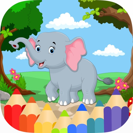 Animals Coloring Pages for Kids Girls & Boys HD iOS App