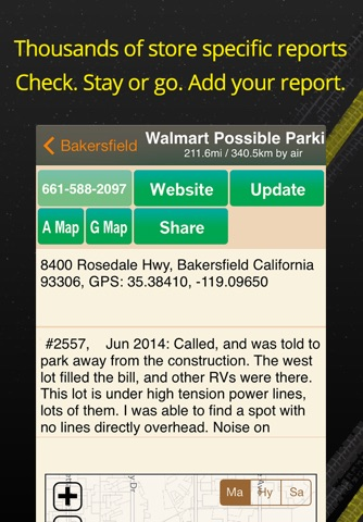 Walmart Overnight Parking Locator screenshot 2
