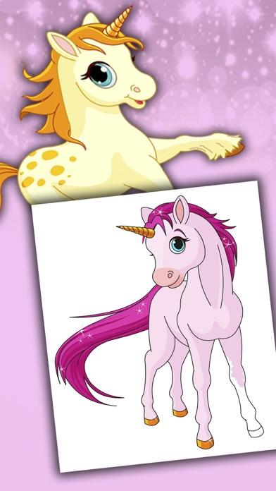 Licornes dessins à peindre et livre à colorierCapture d'écran de 4