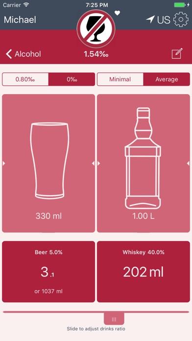 Drinking Calculator Screenshots