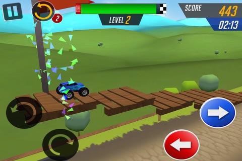 Monster Car Stunts Racing screenshot 2