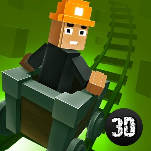 Block Mine Cart Racing Adventures 3D Full iOS App