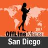 San Diego mapa offline y guía de viaje