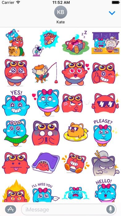 Screenshot of Cannon Land Family Stickers2