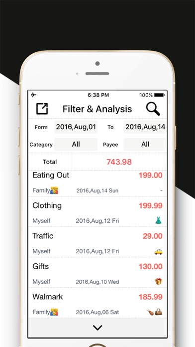 Daily Expense Tracker 2 - Easy Spending Expense. on the App Store