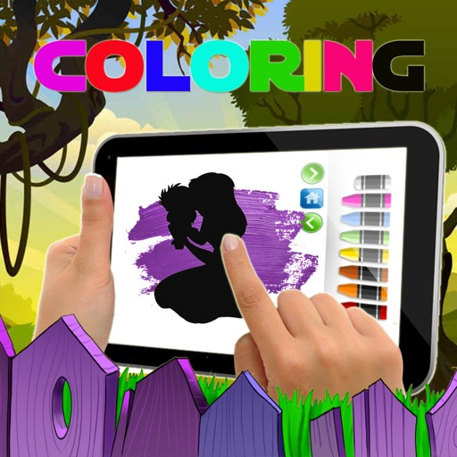 Game Paint Coloring Tarzan Jane Jungle Edition iOS App