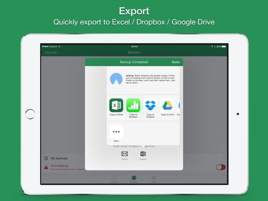 Screenshot #3 for Contacts 2 XLS - Export contacts to Excel