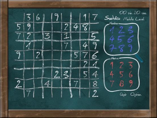 Sudoku on Chalkboard на iPad