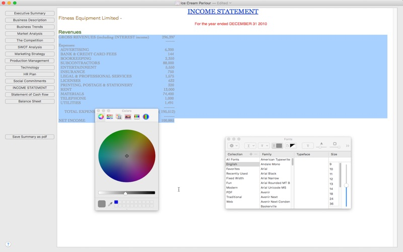 business plan maker software free download