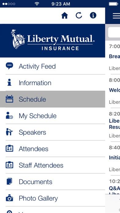 Screenshot of Liberty Events5