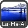 Louisiana Mississippi Alabama GPS chart Navigator
