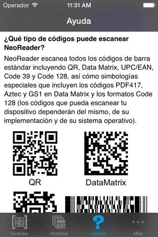 NeoReader®-QR&BarcodeScanner screenshot 4