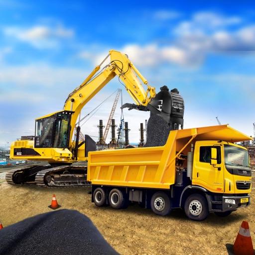 Heavy Road Excavator Crane - Drive Heavy Construction Vehicle City Builder Sim Game iOS App