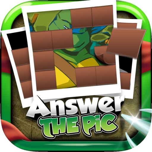 "Answer Pictures Puzzles Games ""for Ninja Turtles"" Icon"