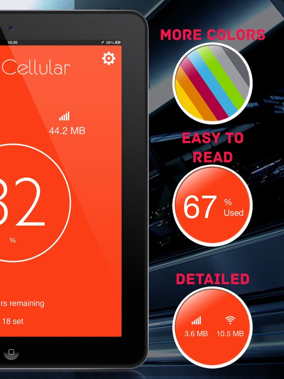 Data Cellular Counter ( monitor data usage ) Screenshots