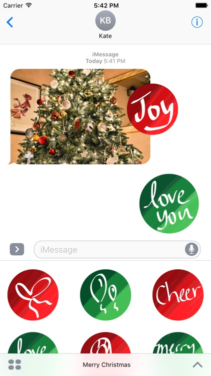 merry christmas sticker pic stickers for imessage - Merry Christmas Stickers