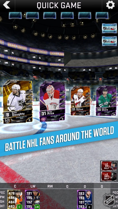 Screenshots of NHL SuperCard 2K17 for iPhone