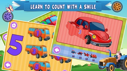 Trucks World Count and Touch- Toddler Counting 123 for Kids screenshot four