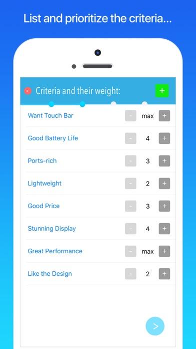 Best Decision app Screenshots