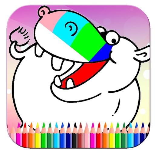 Special Hippo Adventure Coloring Book Game Edition iOS App