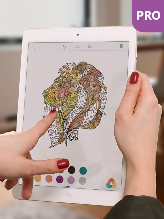 Kleurplaten Inkleuren Op Ipad.Kleurplaten Dieren Pro Kleurboek Voor Volwassenen Door Peaksel Doo