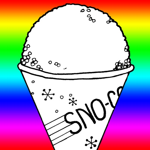 snow cone coloring pages - photo#4
