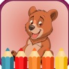 Animal cartoon coloring books for kids