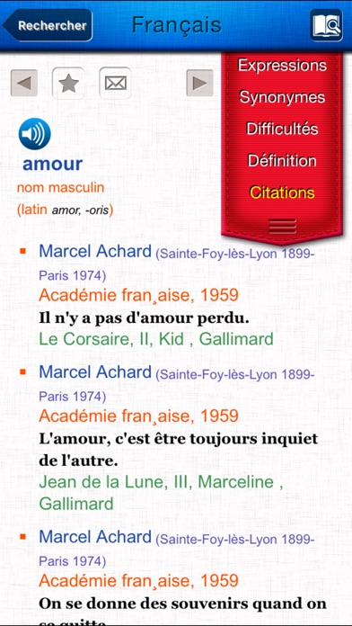 French dictionary Screenshots