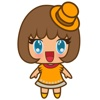 Saki the sweet blue eyed girl for iMessage Sticker