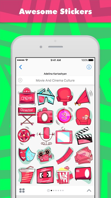download Movie And Cinema Culture stickers by Ada apps 0