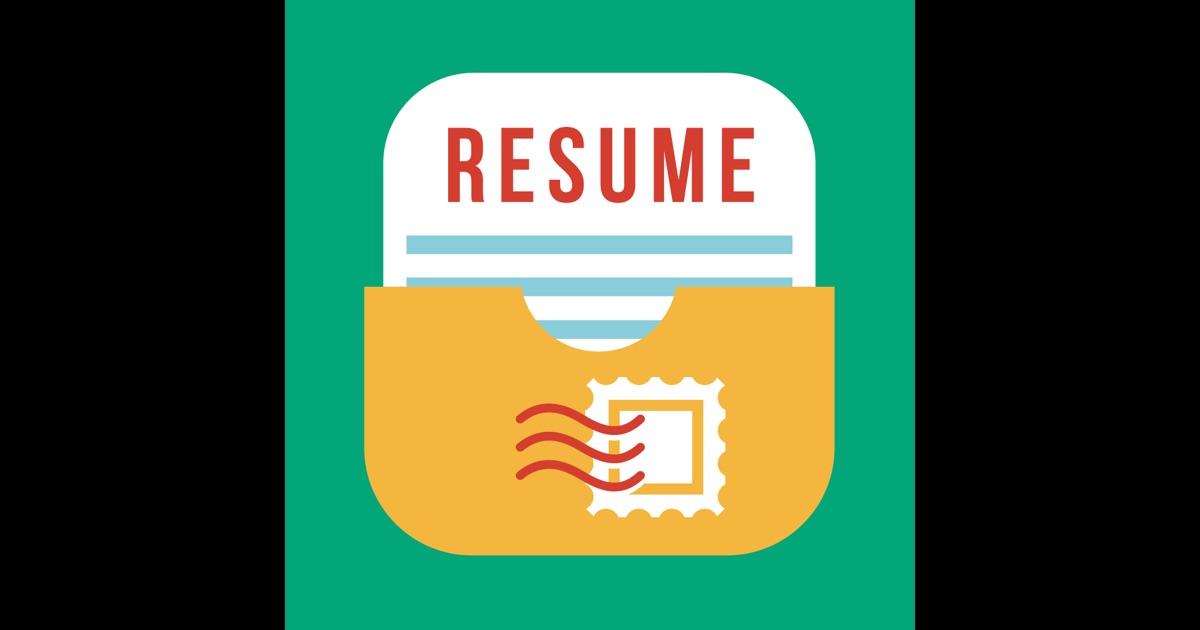 Pocket Resume - The Original CV Builder on the App Store