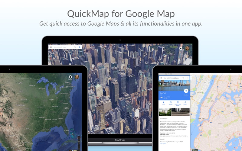 QuickMap for Google Map app for Macs - download for MacOS