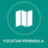 Yucatan Peninsula : Offline GPS Navigation App