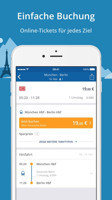 GoEuro: Bahn, Bus, Flug Screenshot