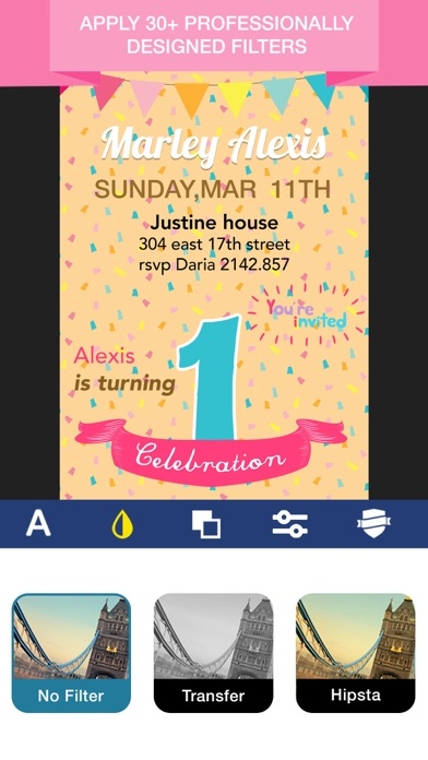 Invitation Maker Invite Maker On The App Store - Birthday invitation apps